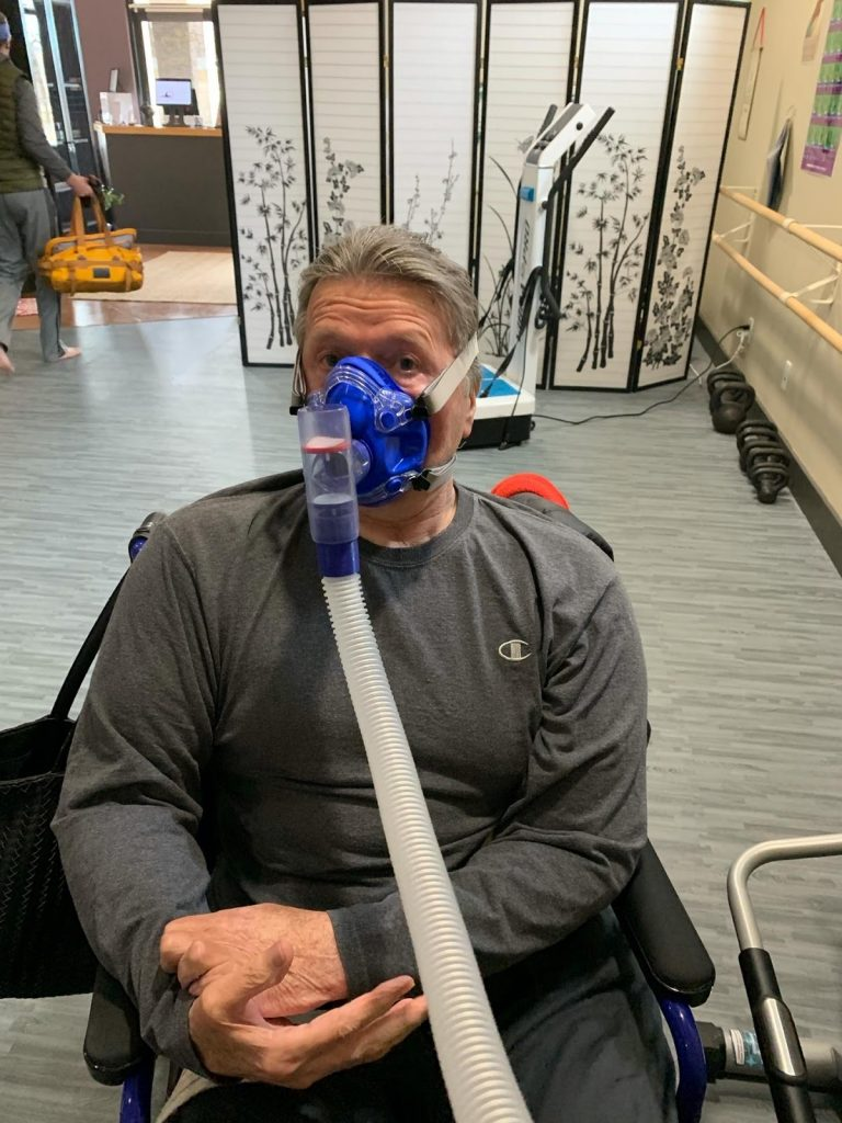 Paul using the LiveO2